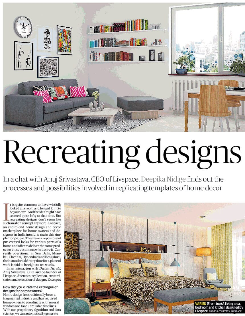 Livspace on Deccan Herald